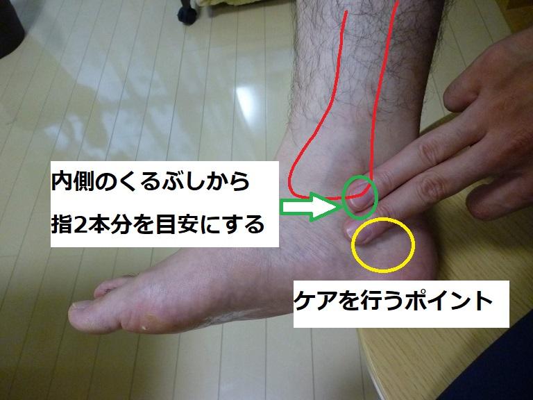足首の内側のケアを行うポイント